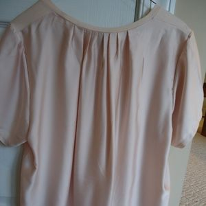 J Crew Top Size L Pink Pleats in Back